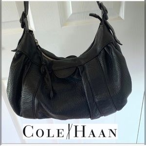 COLE HAAN BLACK LEATHER BAG DONT LOOK INSIDE